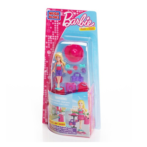 Mega Bloks Barbie Shop 'n Style Barbie officially licensed Mega Bloks Barbie product at B.A. Toys.