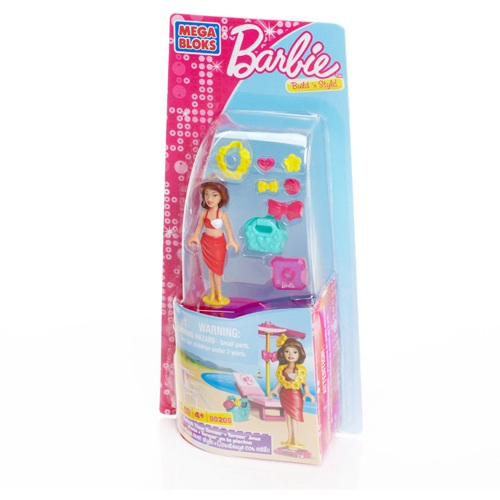 Mega Bloks Barbie Splash Time Barbie is an officially licensed, authentic Mega Bloks Barbie product at B.A. Toys featuring Splash Time Barbie by Mega Bloks Barbie