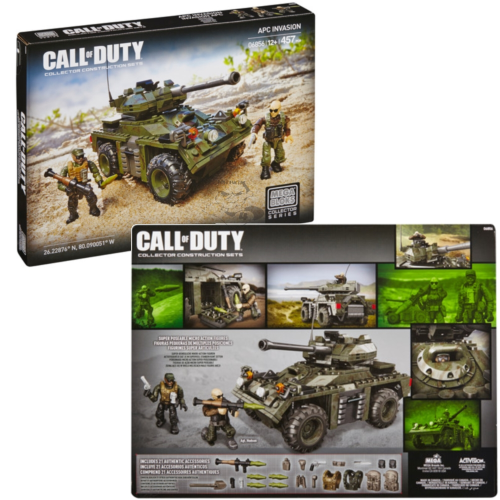 2014 Mega Bloks Call of Duty APC Invasion is an officially licensed, authentic Mega Bloks Call of Duty product at B.A. Toys featuring APC Invasion by Mega Bloks Call of Duty