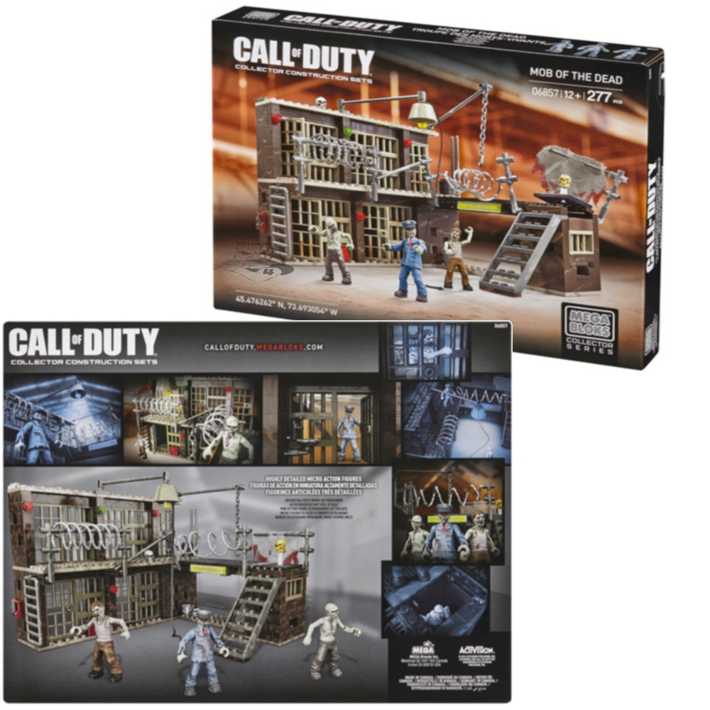 2014 Mega Bloks Call of Duty Mob of the Dead is an officially licensed, authentic Mega Bloks Call of Duty product at B.A. Toys featuring Mob of the Dead by Mega Bloks Call of Duty