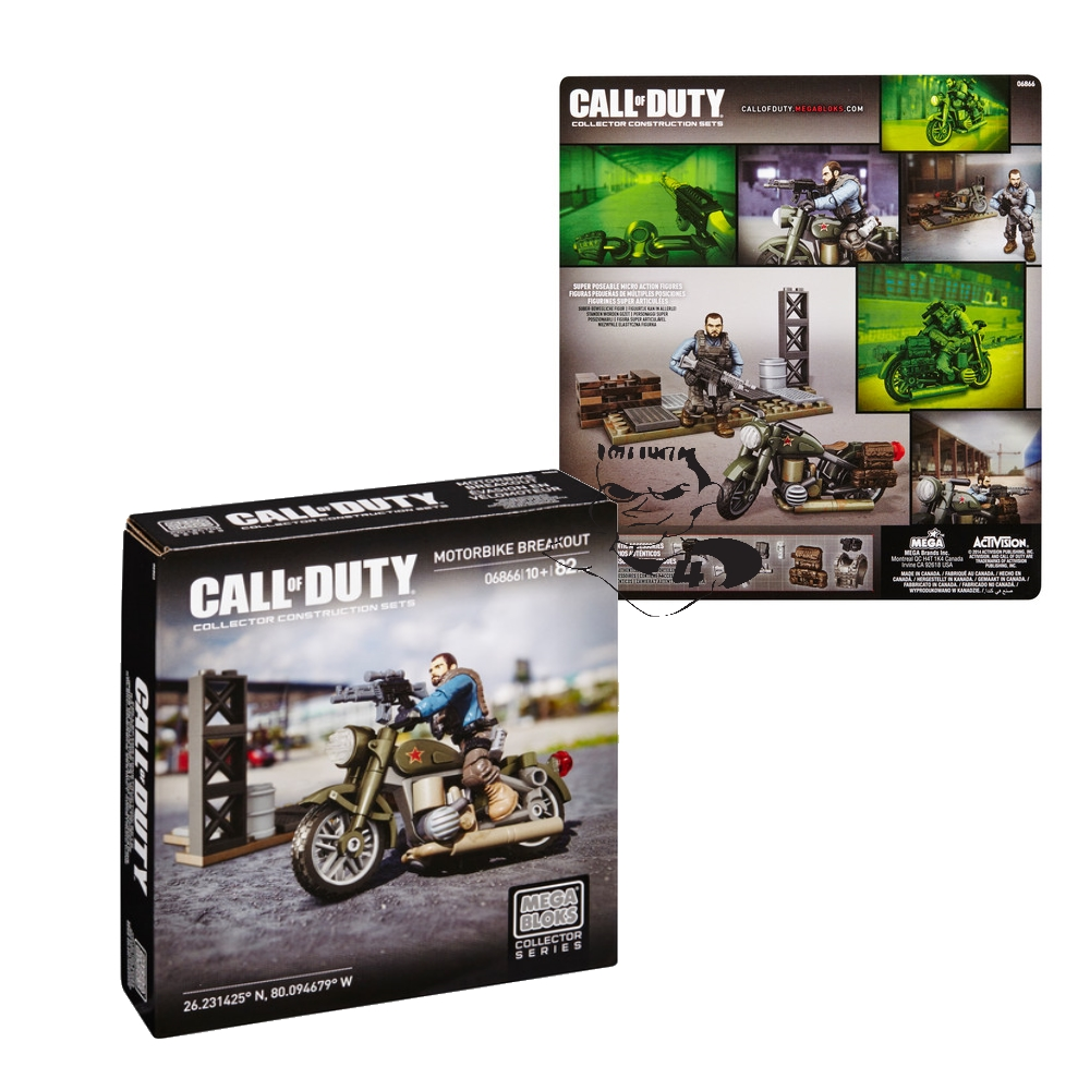 2014 Mega Bloks Call of Duty Motorbike Breakout is an officially licensed, authentic Mega Bloks Call of Duty product at B.A. Toys featuring Motorbike Breakout by Mega Bloks Call of Duty