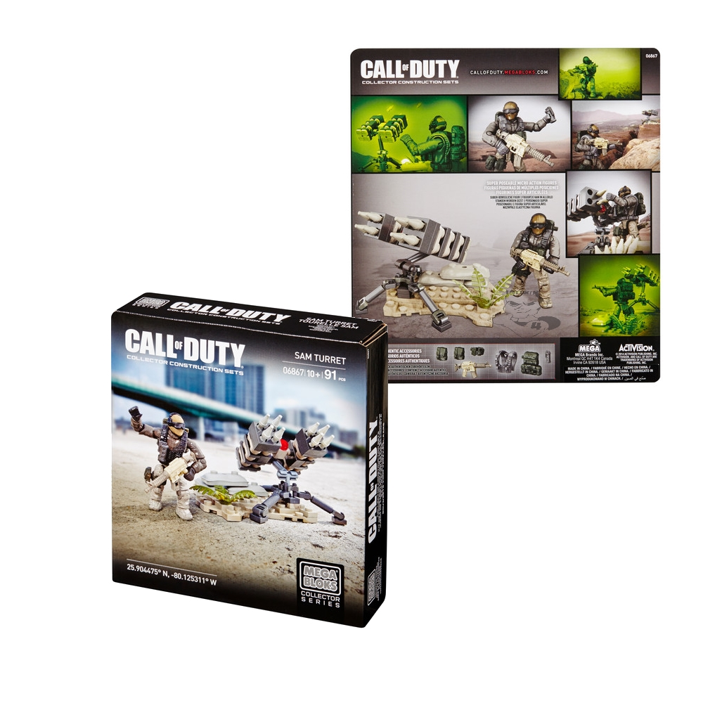 2014 Mega Bloks Call of Duty SAM Turret is an officially licensed, authentic Mega Bloks Call of Duty product at B.A. Toys featuring SAM Turret by Mega Bloks Call of Duty