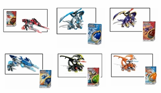 Dragons Universe Mega Bloks Small Dragons & Vehicles Set officially licensed Dragons Universe Mega Bloks product at B.A. Toys.