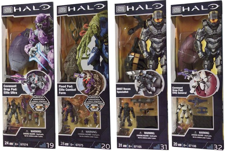 Halo Mega Bloks Drop Pods Case Option officially licensed Halo Mega Bloks product at B.A. Toys.