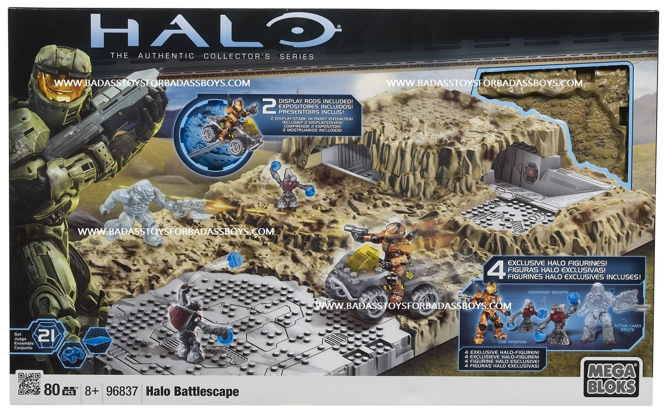 Halo Mega Bloks Battlescape officially licensed Halo Mega Bloks product at B.A. Toys.