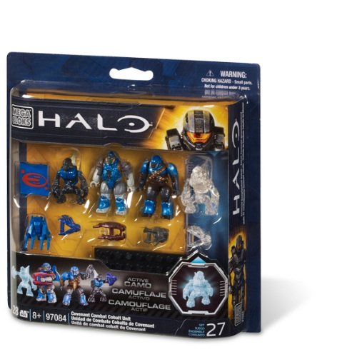 Halo Mega Bloks Covenant Cobalt Combat Unit officially licensed Halo Mega Bloks product at B.A. Toys.