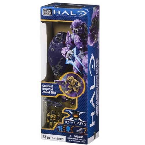 Halo Mega Bloks Covenant Drop Pod: Zealot Elite officially licensed Halo Mega Bloks product at B.A. Toys.