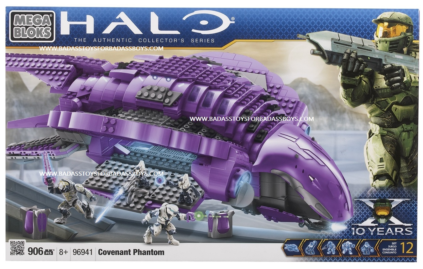Halo Mega Bloks Covenant Phantom officially licensed Halo Mega Bloks product at B.A. Toys.