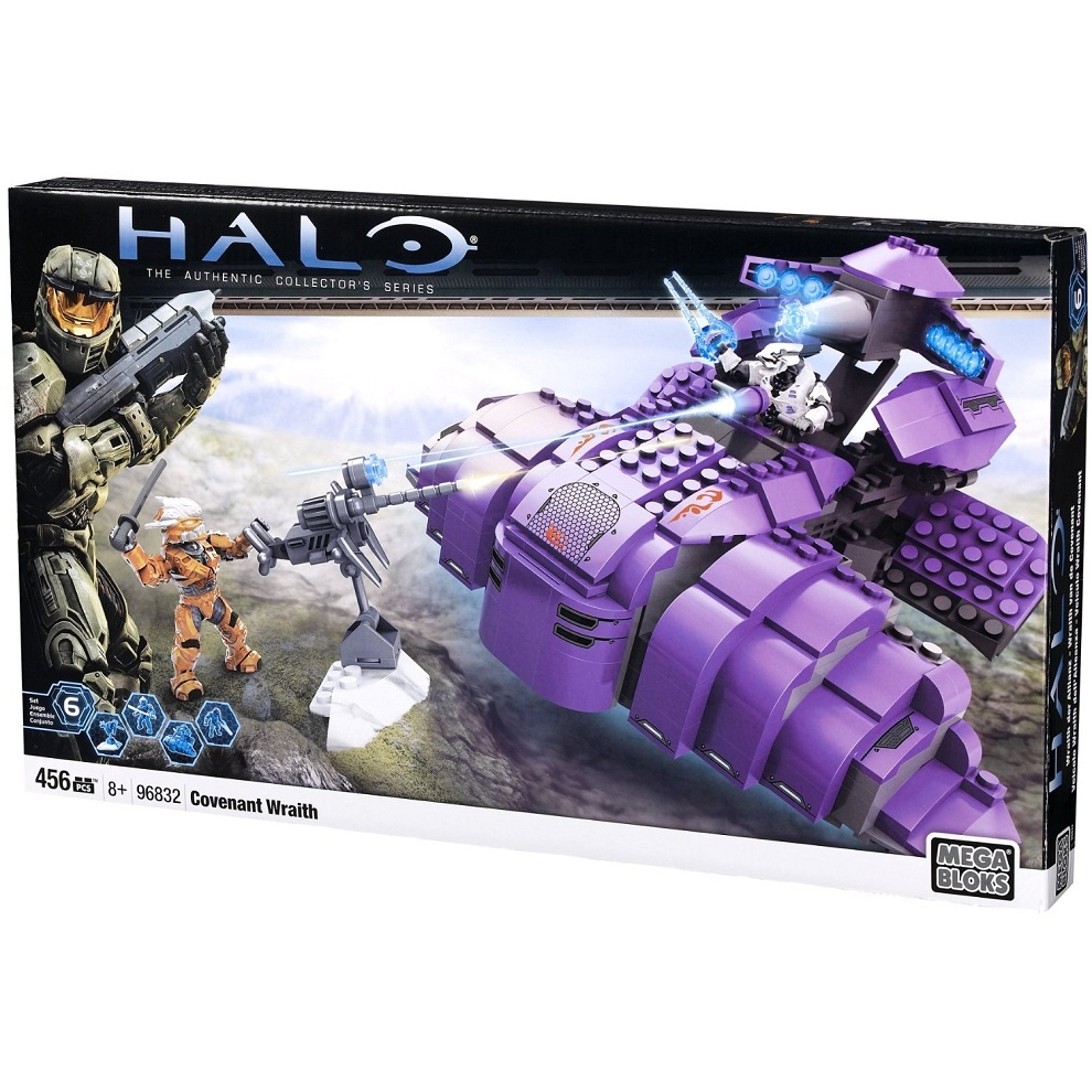 Halo Mega Bloks Covenant Wraith officially licensed Halo Mega Bloks product at B.A. Toys.