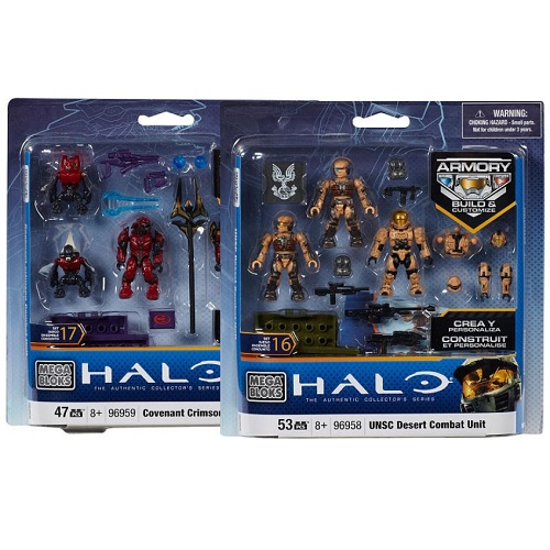 Halo Mega Bloks Covenant Crimson 96959 & UNSC Desert 96958 Combat Units officially licensed Halo Mega Bloks product at B.A. Toys.