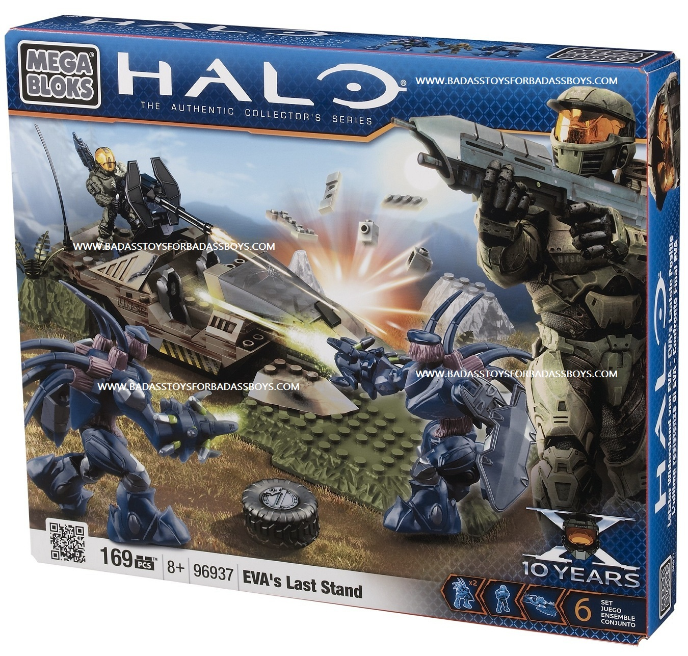 Halo Mega Bloks EVAs Last Stand officially licensed Halo Mega Bloks product at B.A. Toys.