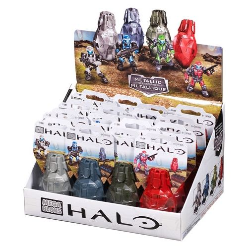 Mega Bloks Halo Metallic Series ODST Drop Pods Asst I Case of 16 Special Order Ships 2-4 Weeks officially licensed Mega Bloks Halo product at B.A. Toys.