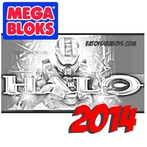 2014 Mega Bloks Halo Metallic Series Drop Pod Asst II Case of 16 Pre-Order Ships Sept
