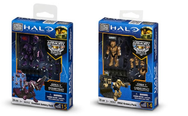 Halo Mega Bloks UNSC Armory Pack 96951 & Covenant Armory Pack 96952 officially licensed Halo Mega Bloks product at B.A. Toys.