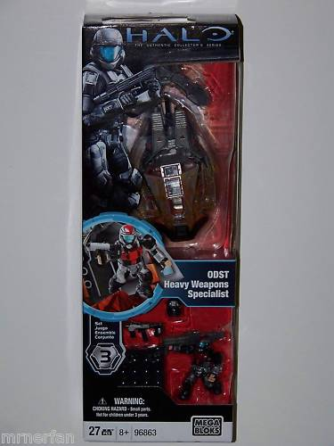 Halo Mega Bloks ODST Heavy Weapons  Specialist officially licensed Halo Mega Bloks product at B.A. Toys.