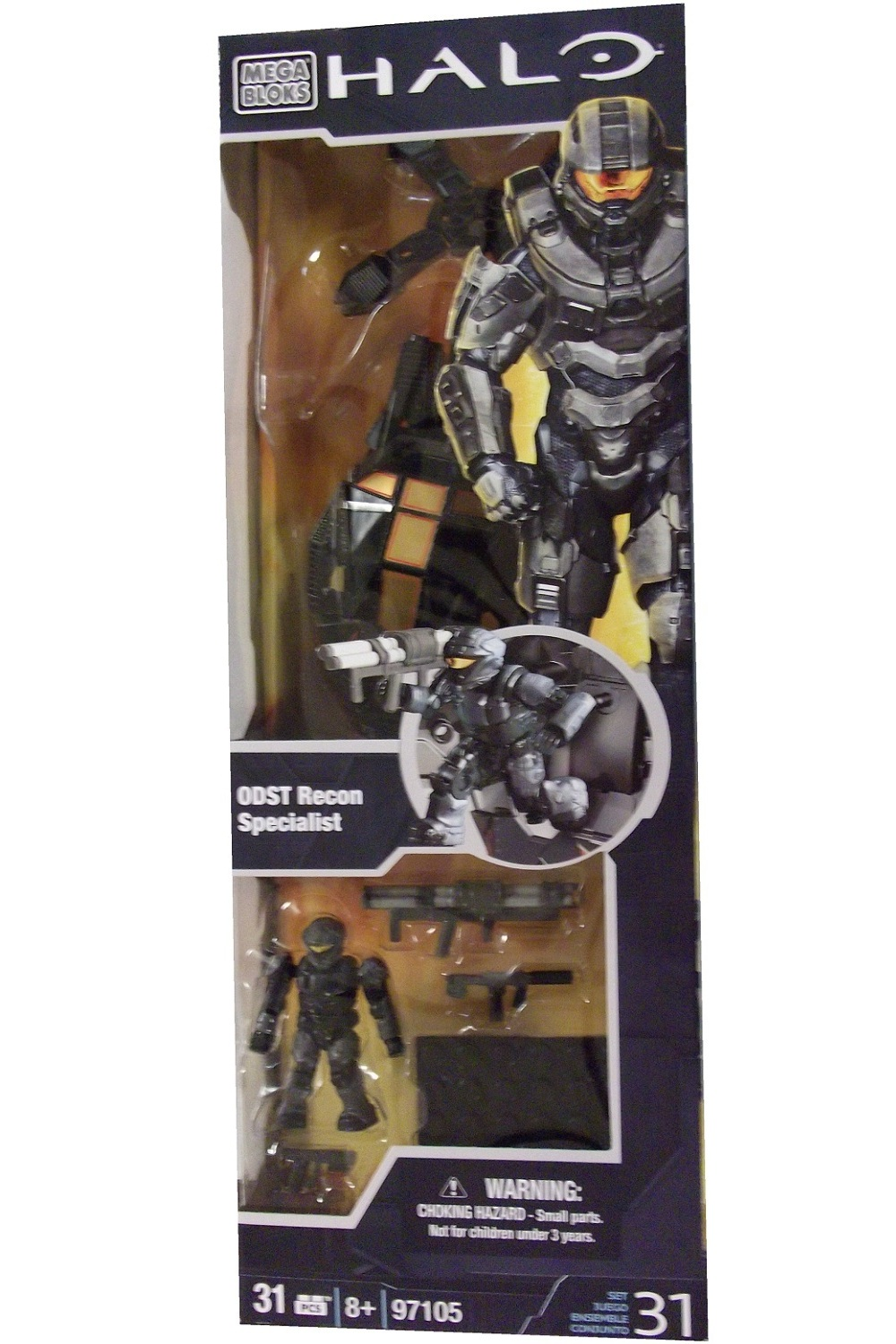 Halo Mega Bloks ODST Recon  Specialist officially licensed Halo Mega Bloks product at B.A. Toys.