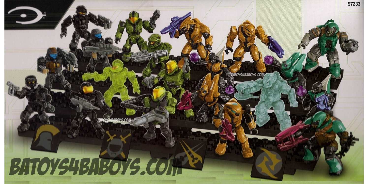 Halo Mega Bloks Exclusives Ultimate Combat Pack officially licensed Halo Mega Bloks Exclusives product at B.A. Toys.