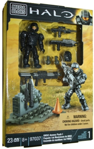 Halo Mega Bloks UNSC Ammo Pack officially licensed Halo Mega Bloks product at B.A. Toys.