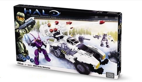 Halo Mega Bloks UNSC Arctic Wolverine officially licensed Halo Mega Bloks product at B.A. Toys.