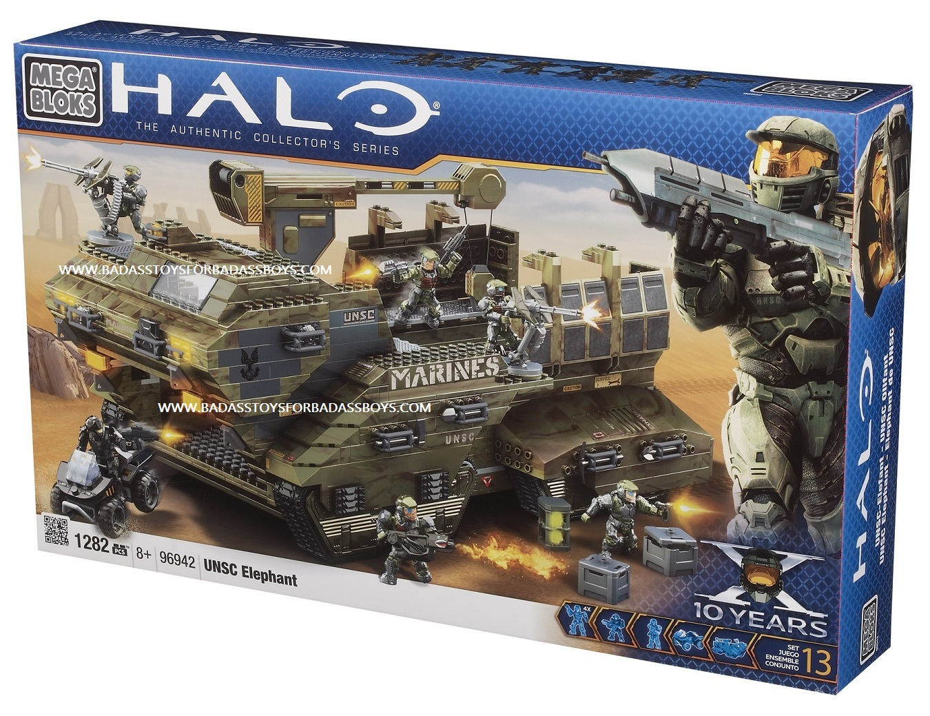 Halo Mega Bloks UNSC Elephant officially licensed Halo Mega Bloks product at B.A. Toys.