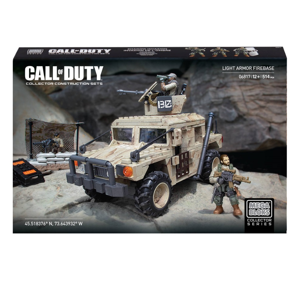Mega Bloks Call of Duty Light Armor Firebase is an officially licensed, authentic Mega Bloks Call of Duty product at B.A. Toys featuring Light Armor Firebase by Mega Bloks Call of Duty
