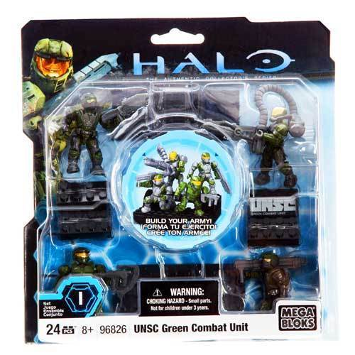 Halo Mega Bloks UNSC Green Combat Unit officially licensed Halo Mega Bloks product at B.A. Toys.