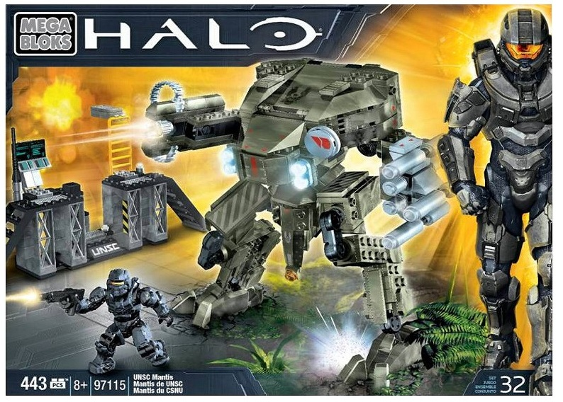Halo Mega Bloks UNSC Mantis officially licensed Halo Mega Bloks product at B.A. Toys.