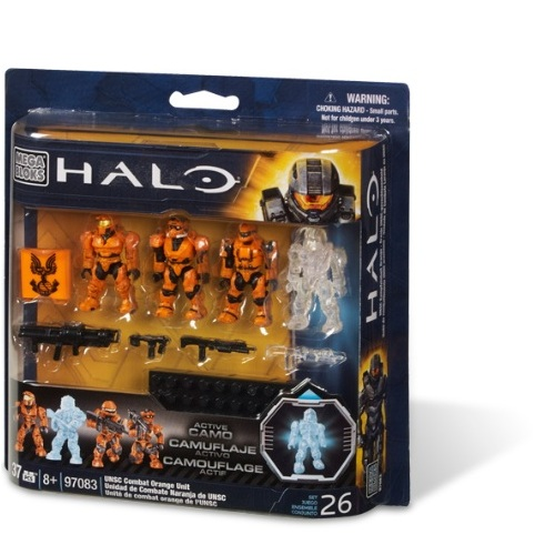 Halo Mega Bloks UNSC Orange Combat Unit officially licensed Halo Mega Bloks product at B.A. Toys.