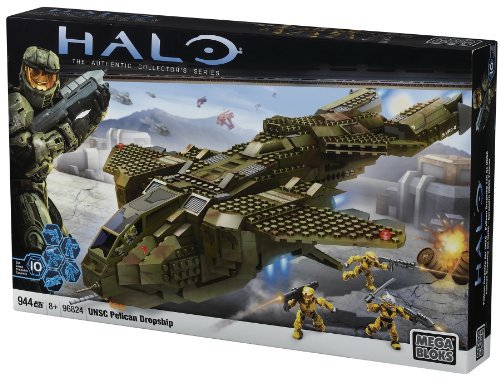 Halo Mega Bloks UNSC Pelican Dropship officially licensed Halo Mega Bloks product at B.A. Toys.