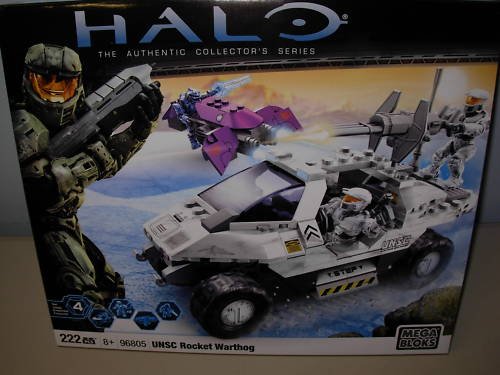 Halo Mega Bloks UNSC Rocket Warthog officially licensed Halo Mega Bloks product at B.A. Toys.