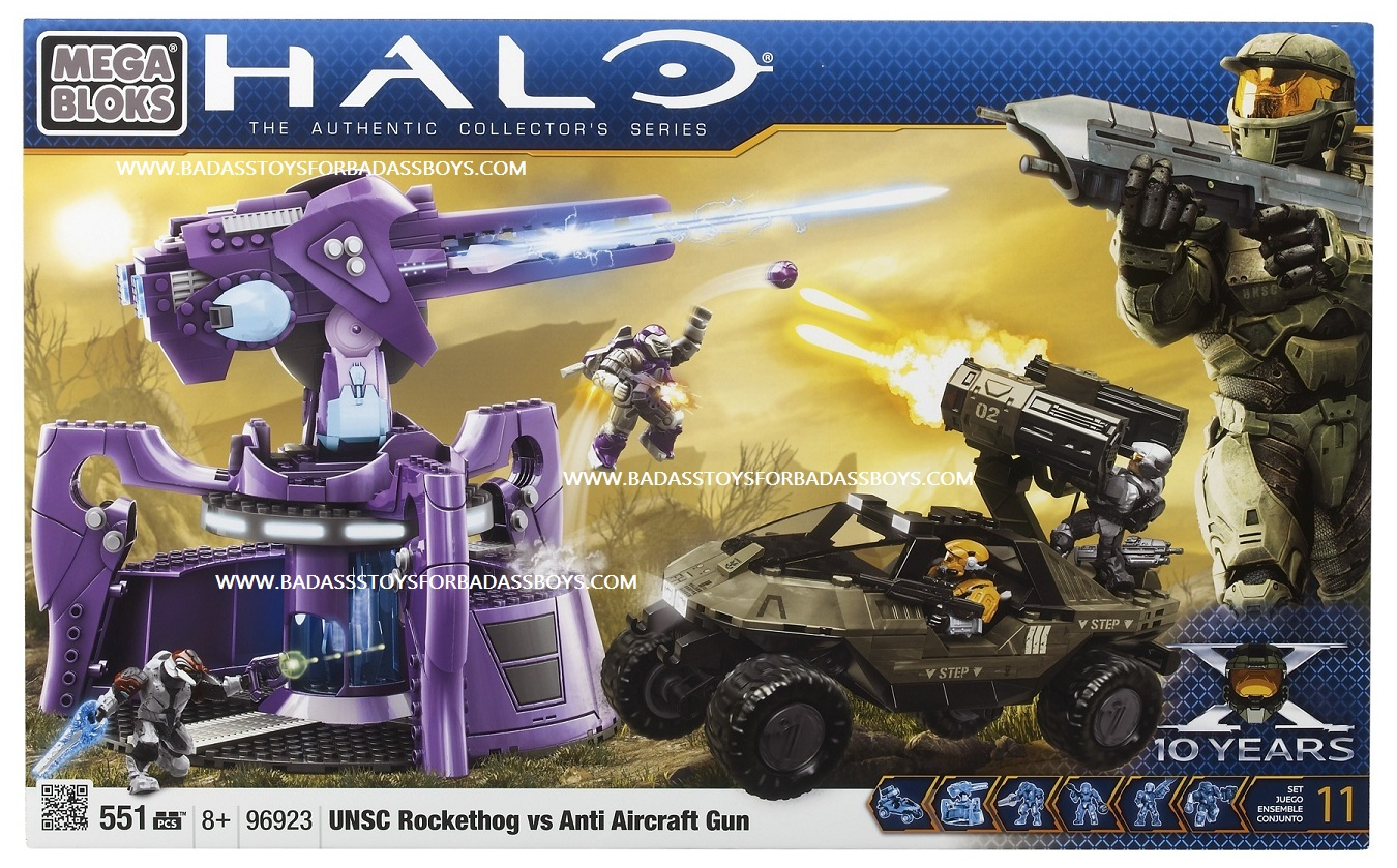Halo Mega Bloks UNSC Rockethog vs.Anti-Aircraft Turret officially licensed Halo Mega Bloks product at B.A. Toys.