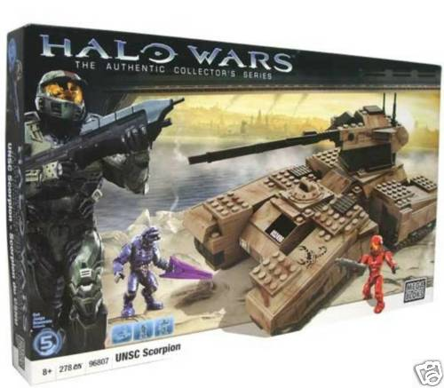 Halo Mega Bloks UNSC Scorpion officially licensed Halo Mega Bloks product at B.A. Toys.