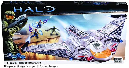 Halo Mega Bloks UNSC Shortsword officially licensed Halo Mega Bloks product at B.A. Toys.