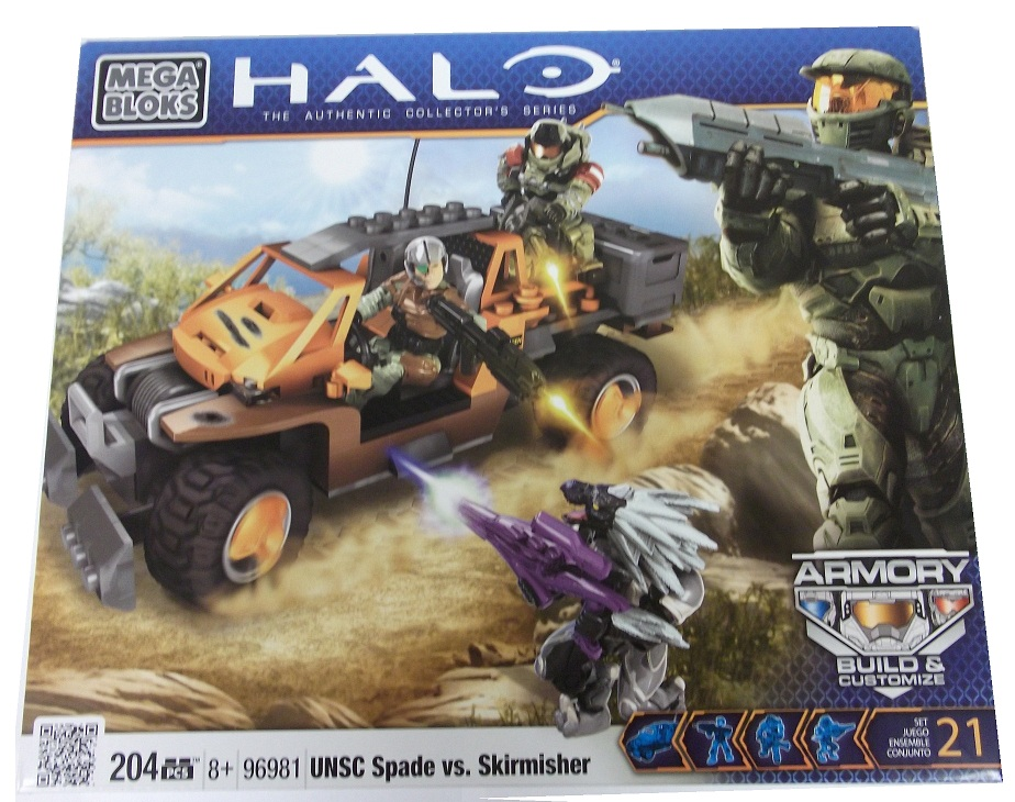 Halo Mega Bloks UNSC Spade vs Skirmisher officially licensed Halo Mega Bloks product at B.A. Toys.