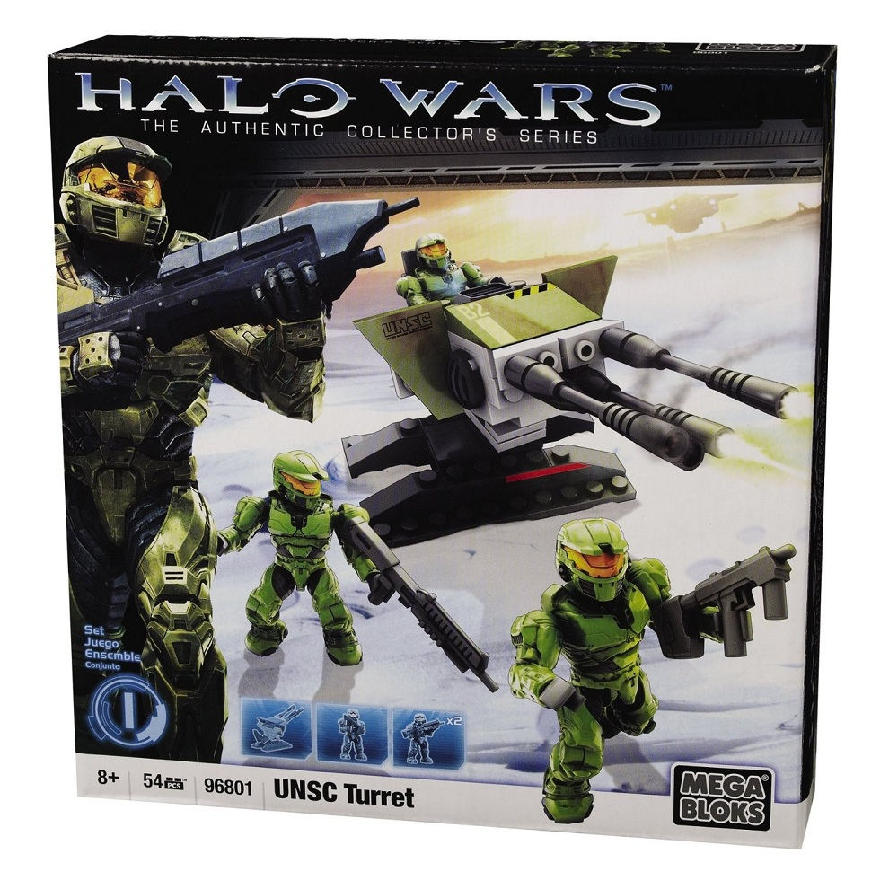 Halo Mega Bloks UNSC Turret officially licensed Halo Mega Bloks product at B.A. Toys.