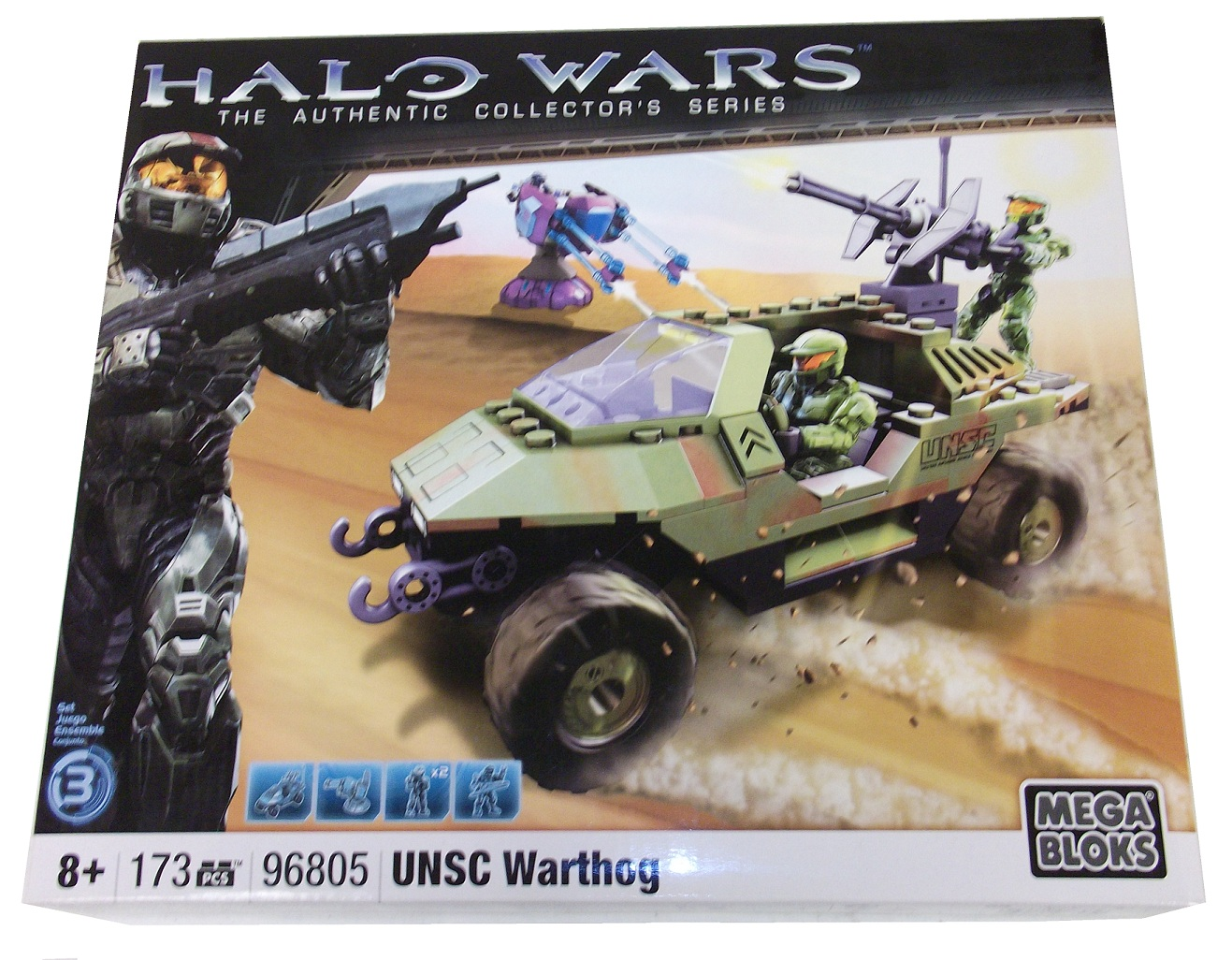 Halo Mega Bloks UNSC Warthog Green Camo officially licensed Halo Mega Bloks product at B.A. Toys.