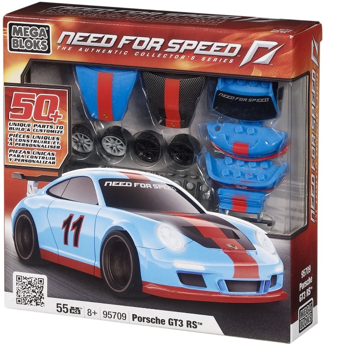 Need For Speed Mega Bloks Porsche GT3 RS officially licensed Need For Speed Mega Bloks product at B.A. Toys.