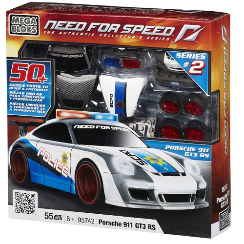 Mega Bloks Need For Speed Porsche 911 GT3 RS officially licensed Mega Bloks Need For Speed product at B.A. Toys.