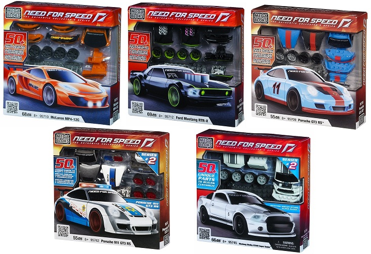 Mega Bloks Need For Speed NFS Set of 5 officially licensed Mega Bloks Need For Speed product at B.A. Toys.