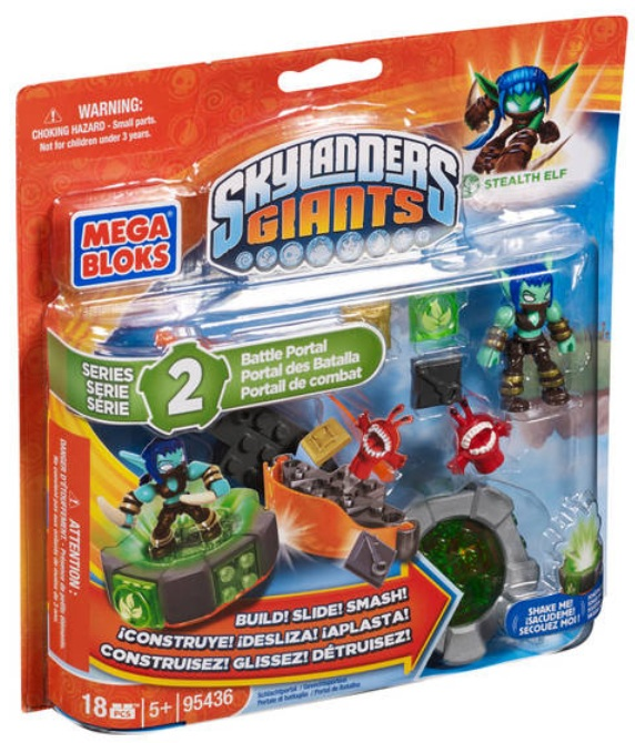 Skylanders GIANTS Mega Bloks Stealth Elf's Battle Portal  [Stealth Elf - Life] Series 2 officially licensed Skylanders GIANTS Mega Bloks product at B.A. Toys.