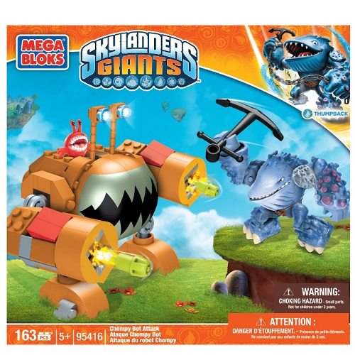 Mega Bloks Skylander's GIANTS Chompy Bot Attack [Thumpback - Water Giant] officially licensed Mega Bloks Skylander's GIANTS product at B.A. Toys.