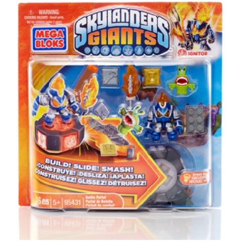 Skylanders GIANTS Mega Bloks Ignitor's Battle Portal Series 1 officially licensed Skylanders GIANTS Mega Bloks product at B.A. Toys.