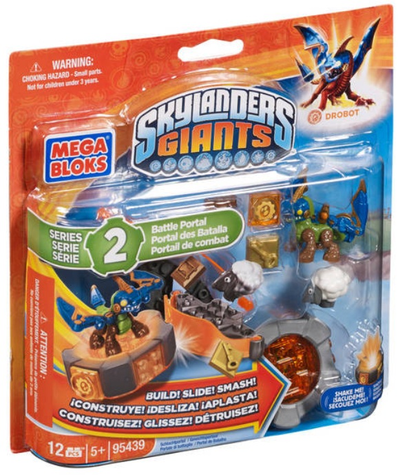 Skylanders GIANTS Mega Bloks Drobot's Battle Portal [Tech] Series 2 officially licensed Skylanders GIANTS Mega Bloks product at B.A. Toys.