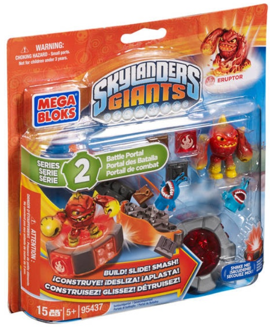 Skylanders GIANTS Mega Bloks Eruptor's Battle Portal [Fire] Series 2 officially licensed Skylanders GIANTS Mega Bloks product at B.A. Toys.