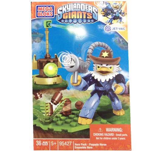 Skylanders GIANTS Mega Bloks Jet-Vac with Cowboy Hat [Air] Series 1 officially licensed Skylanders GIANTS Mega Bloks product at B.A. Toys.