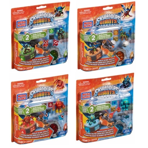 Skylanders GIANTS Mega Bloks Series 2 Battle Portals SET officially licensed Skylanders GIANTS Mega Bloks product at B.A. Toys.