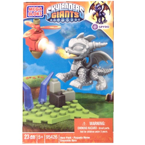 Skylanders GIANTS Mega Bloks Silver Metallic Spyro [Magic] Series 1 officially licensed Skylanders GIANTS Mega Bloks product at B.A. Toys.