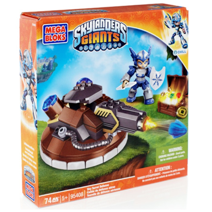 Skylanders GIANTS Mega Bloks Sky Turret Defense [Chill] officially licensed Skylanders GIANTS Mega Bloks product at B.A. Toys.