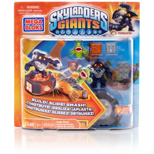 Skylanders GIANTS Mega Bloks Terrafin's Battle Portal Series 1 officially licensed Skylanders GIANTS Mega Bloks product at B.A. Toys.