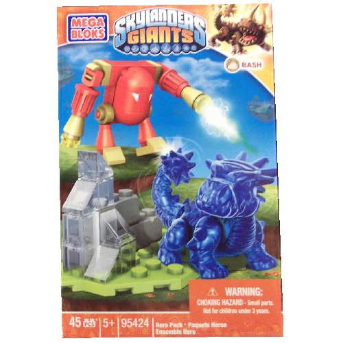 Skylanders GIANTS Mega Bloks Transluscent Bash [Earth] Series 1 officially licensed Skylanders GIANTS Mega Bloks product at B.A. Toys.
